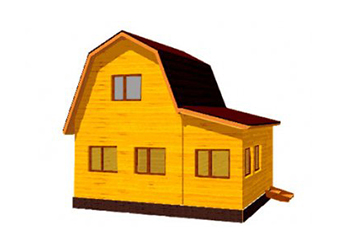 Проект дома из лафета №4