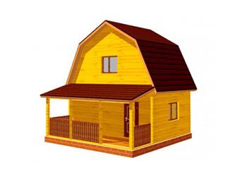 Проект дома из лафета №5